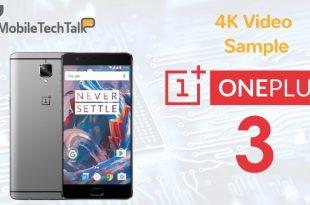 OnePlus 3 4K Video