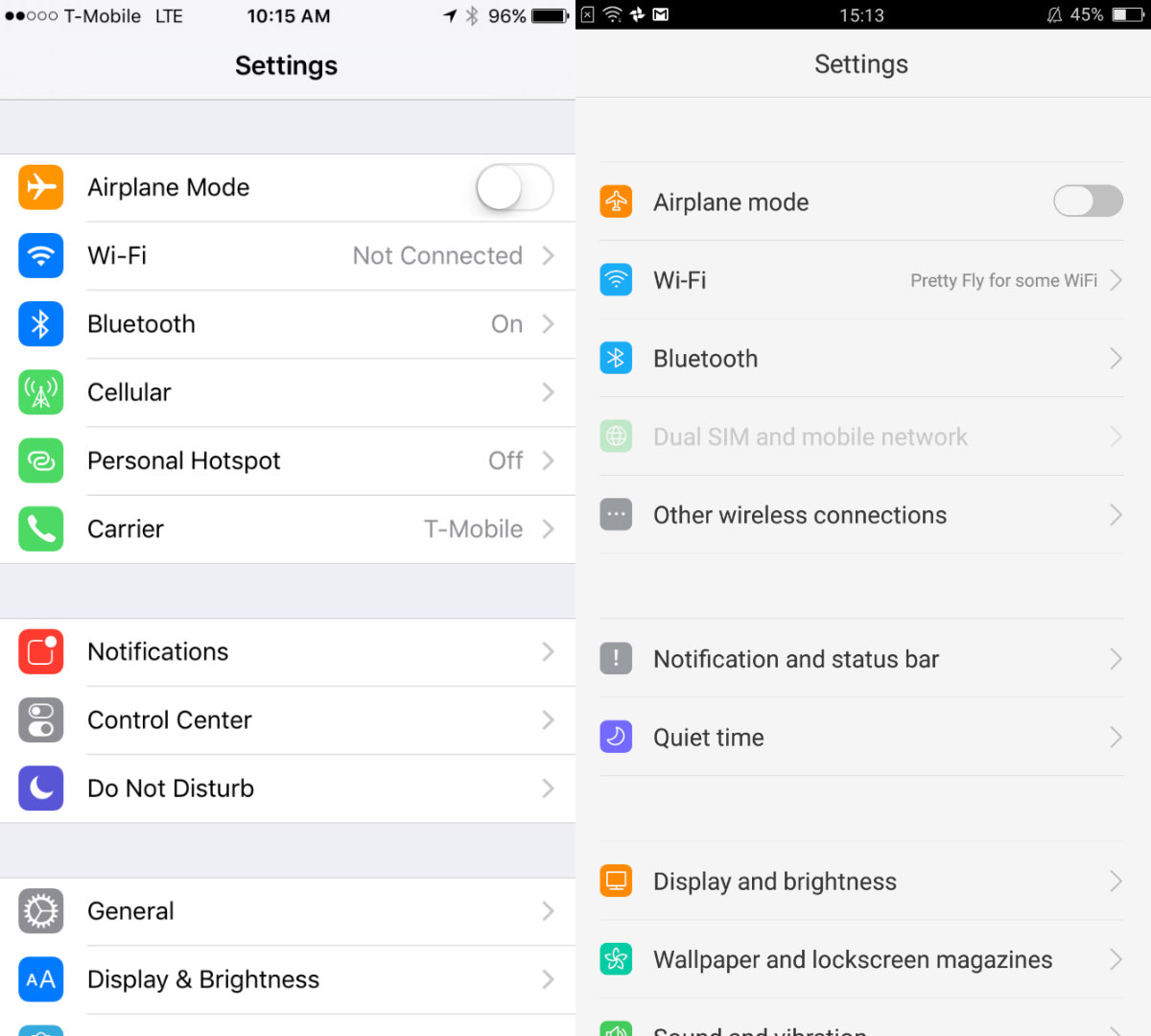 Image result for oppo color OS settings