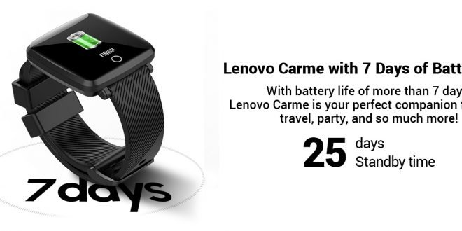 Lenovo Hit India With The Carme Smartwatch