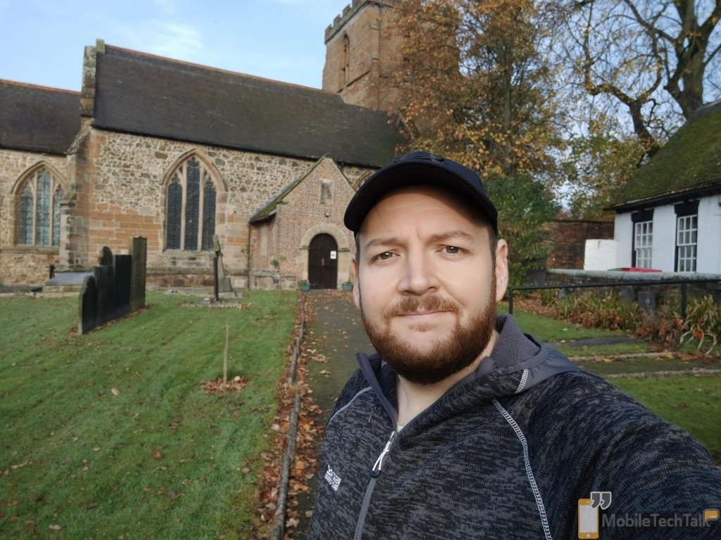 Selfie in front of a church